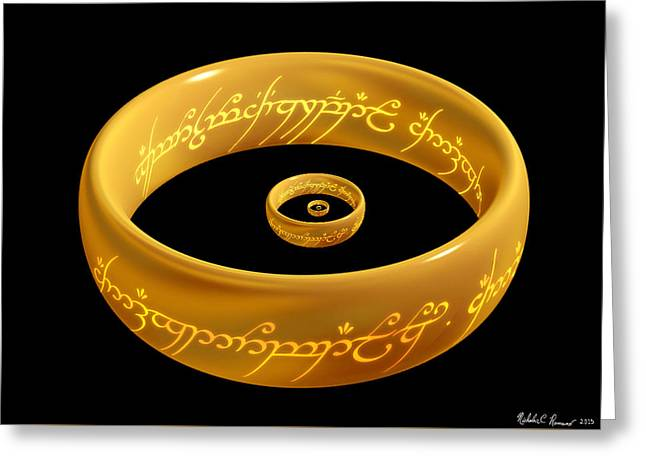 The One Ring Droste Greeting Card
