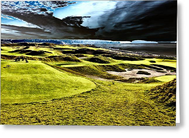 The Only Tree On The Chambers Bay Course - #15 Greeting Card by David Patterson