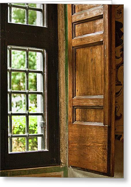 The Open Window Greeting Card by Lynn Andrews