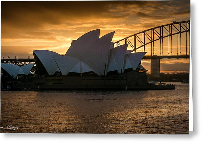 The Opera House Greeting Card by Andrew Matwijec