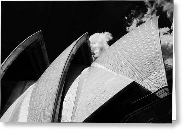 The Opera House Greeting Card by Mark J Dunn