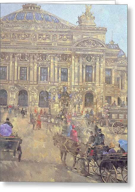 The Opera  Paris Greeting Card by Peter Miller