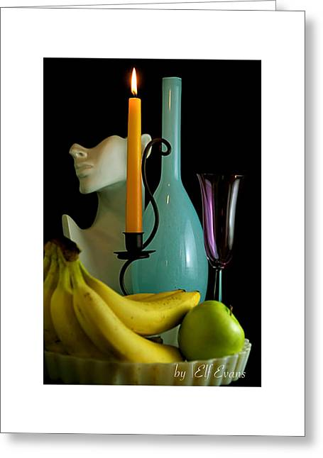 Greeting Card featuring the photograph The Orange Candle by Elf Evans