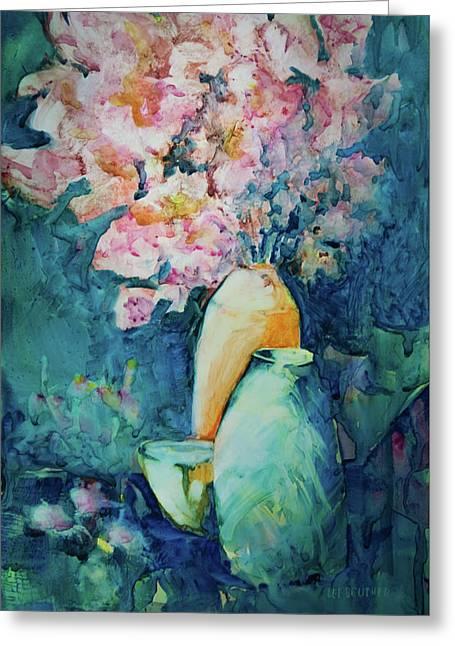 The Orange Vase Greeting Card