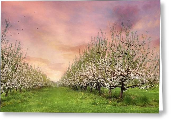 The Orchard Greeting Card by Lori Deiter