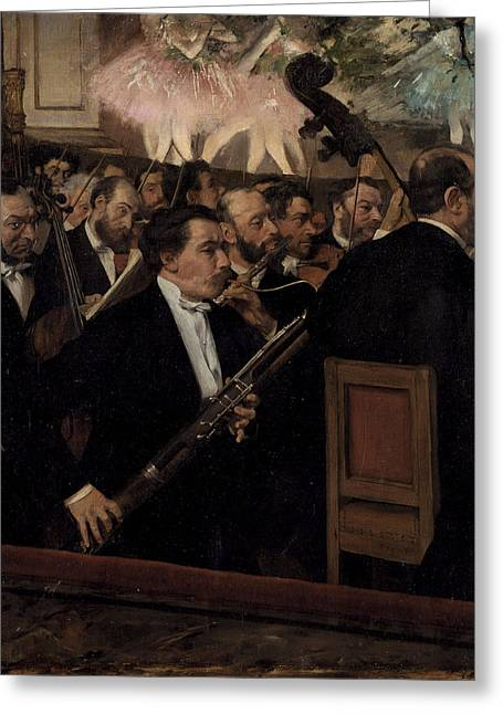 The Orchestra At The Opera  1870 Greeting Card by Edgar Degas