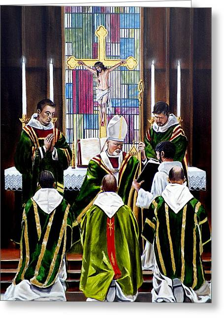 The Ordination Greeting Card by RB McGrath