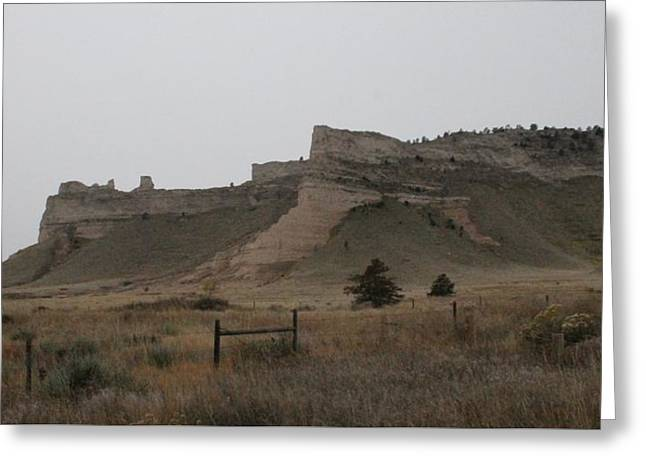 Greeting Card featuring the photograph The Oregon Trail Scotts Bluff Nebraska by Christopher Kirby