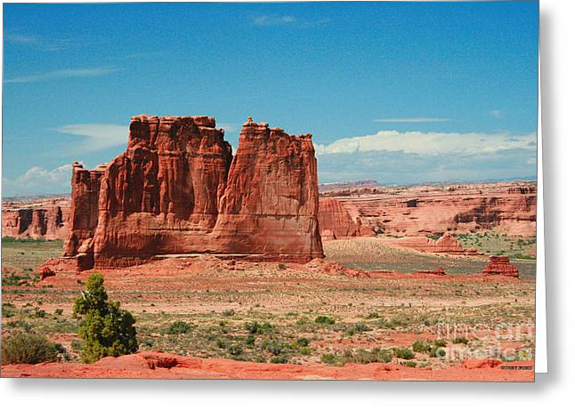 The Organ Arches National Park Greeting Card