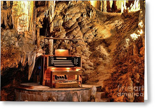 The Organ In Luray Caverns Greeting Card by Paul Ward