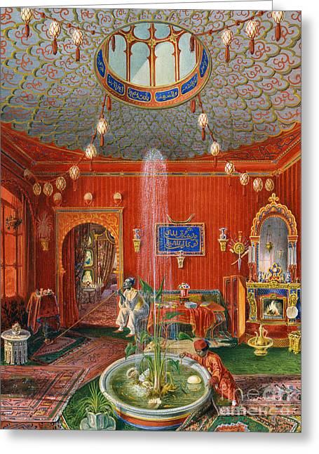 The Oriental Room In Villa Lazarovich, Trieste Residence Of Maximilian Of Habsburg Greeting Card by German School