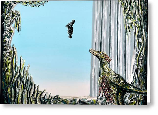 Greeting Card featuring the painting The Origin Of Species -a Recurring Pattern- by Ryan Demaree