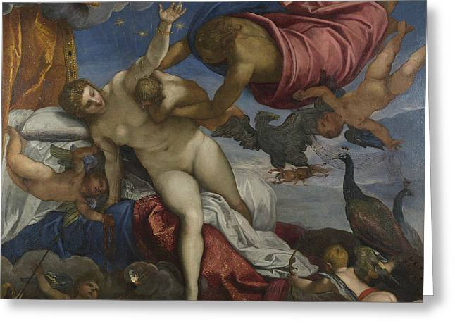 The Origin Of The Milky Way Greeting Card by Tintoretto