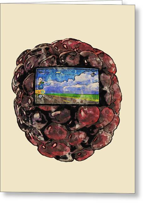 The Blackberry Concept Greeting Card by ISAW Gallery