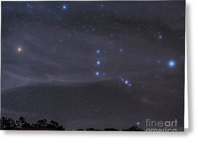 The Orion Constellation Rises Greeting Card by John Davis