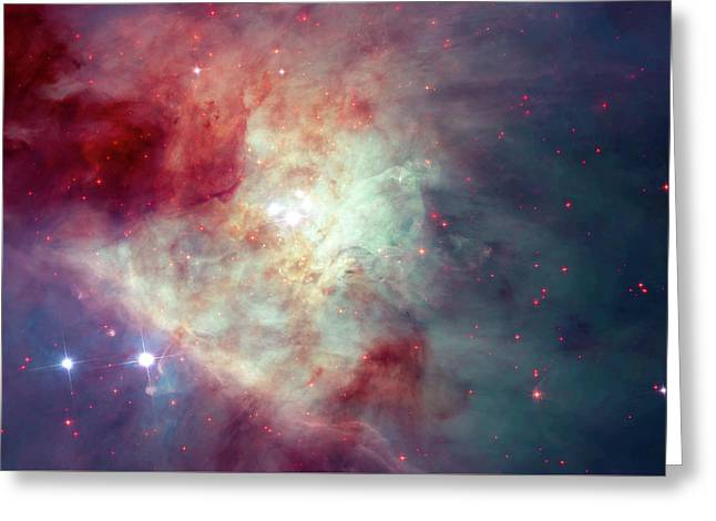 Greeting Card featuring the photograph The Orion Nebula #3 by Nasa
