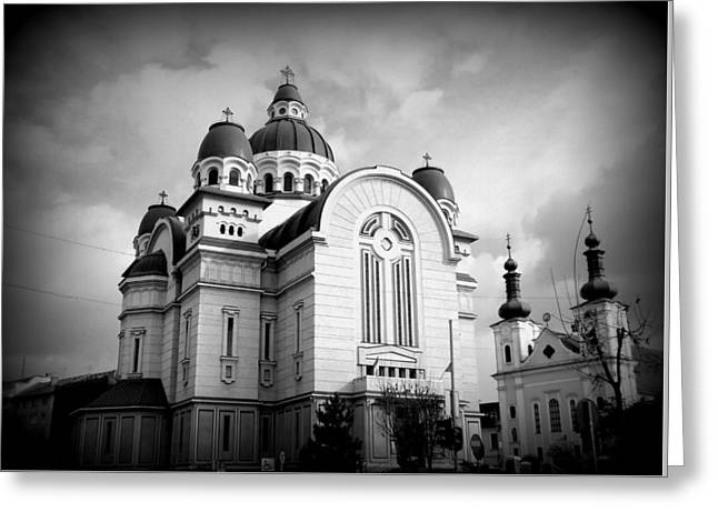 The Orthodox Cathedral And The Saint John The Baptist Church Greeting Card