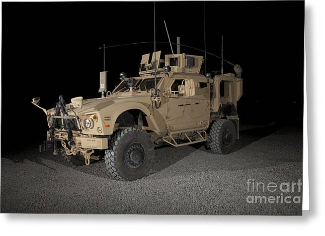 The Oshkosh M-atv Greeting Card by Terry Moore