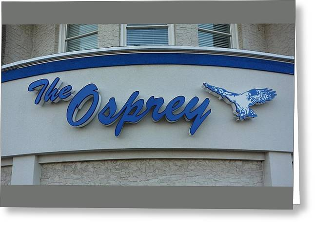 The Osprey Marqee Greeting Card