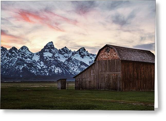 Greeting Card featuring the photograph The Other Moulton Barn by Laura Roberts