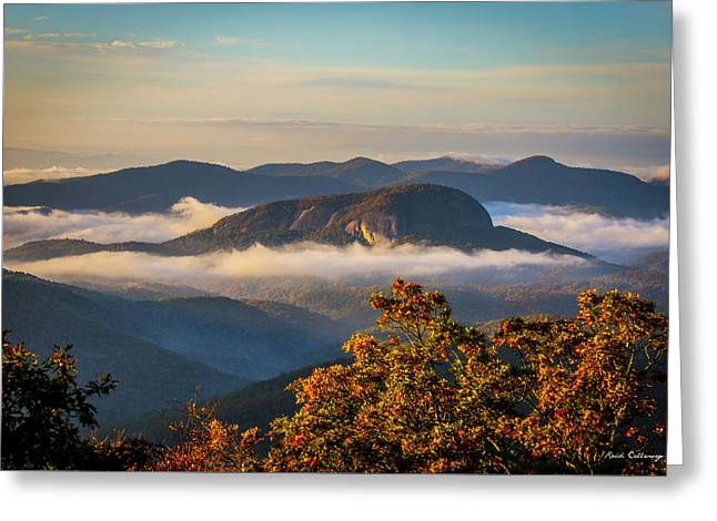The Other Rock Looking Glass Rock Blue Ridge Parkway Art Greeting Card