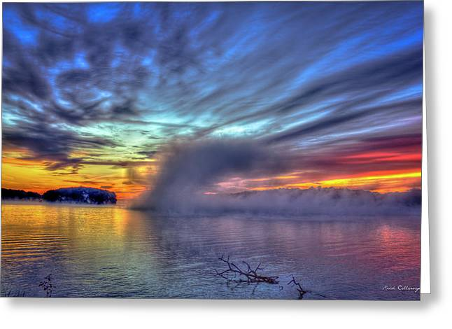 The Otherworldly Sunrise Sugar Creek Lake Oconee Greeting Card