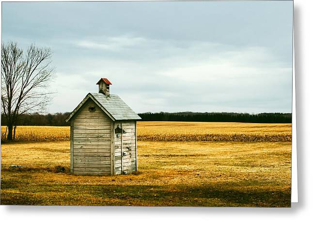 The Outhouse Greeting Card by Todd Klassy