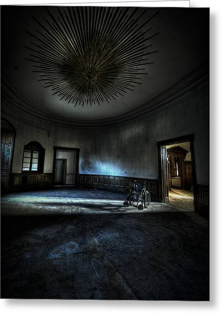 Horror Tale Greeting Cards - The oval star room Greeting Card by Nathan Wright