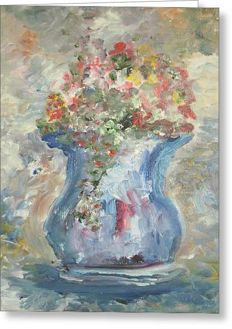 The Oval Vase Greeting Card by Edward Wolverton