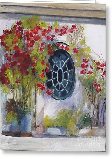 The Oval Window Greeting Card
