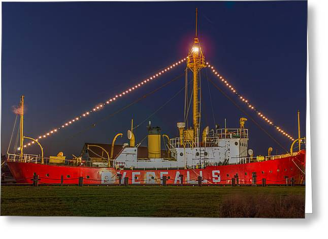 The Overfalls Light Ship, Delaware Greeting Card