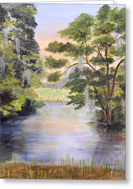 The Overlook Greeting Card by Shirley Lawing