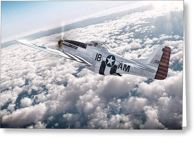 The P-51 Mustang Greeting Card by David Collins