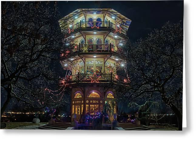 The Pagoda At Christmas Greeting Card