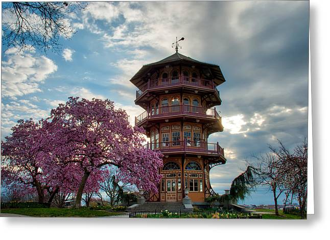 The Pagoda In Spring Greeting Card