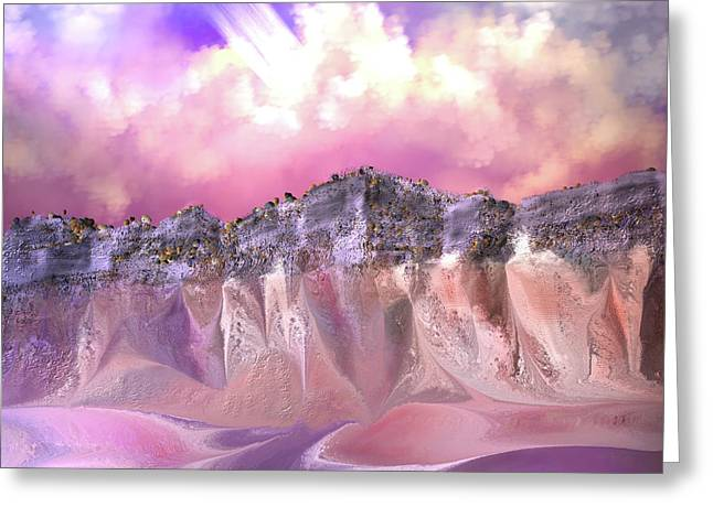 The Painted Sand Rocks Greeting Card