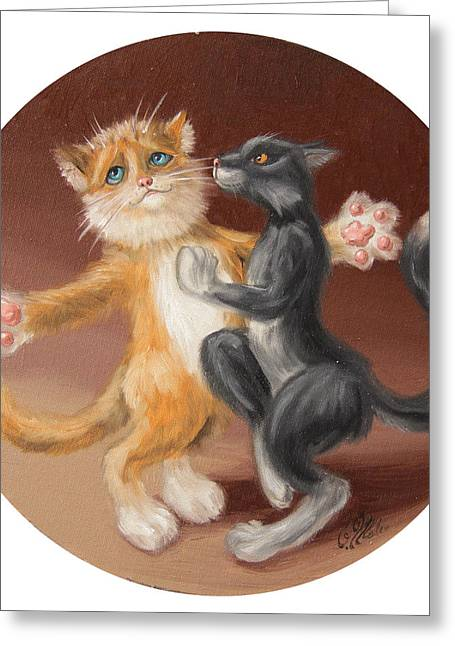 The Painting About Love  Greeting Card