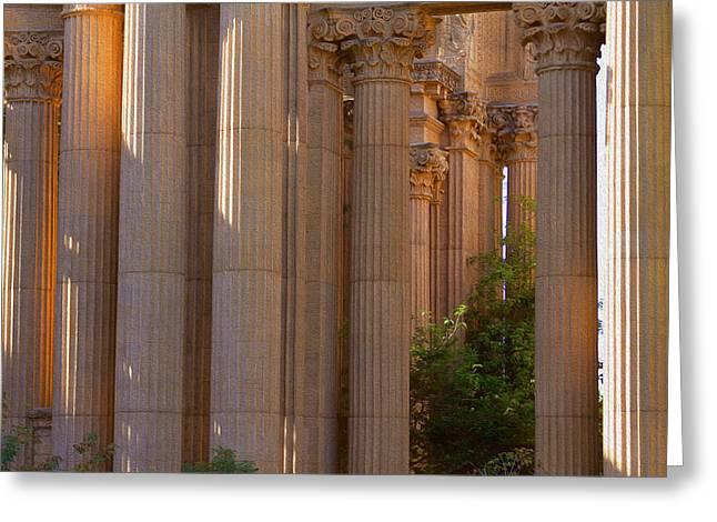 The Palace Columns Greeting Card