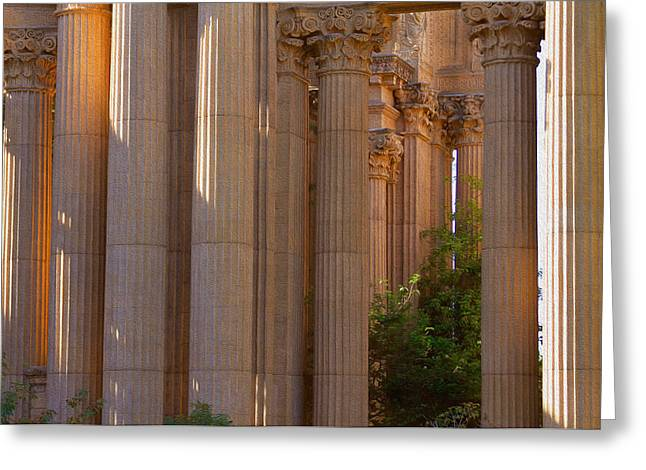 The Palace Columns Greeting Card