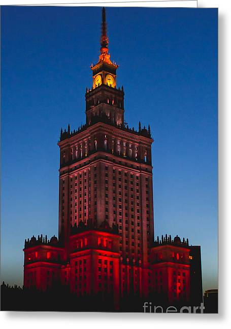 The Palace Of Culture And Science  Greeting Card