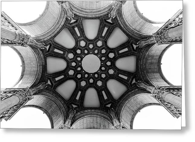 The Palace Of Fine Arts Dome Greeting Card