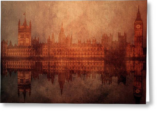 The Palace Of Westminster Greeting Card by KaFra Art