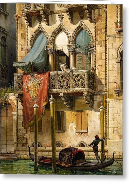 The Palazzo Contarini In Venice Greeting Card by MotionAge Designs
