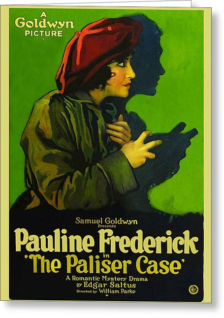 The Paliser Case 1920 Greeting Card