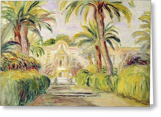 The Palm Trees Greeting Card by Pierre Auguste Renoir