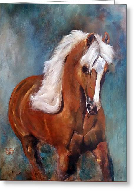 The Palomino 2 Greeting Card by Barbie Batson