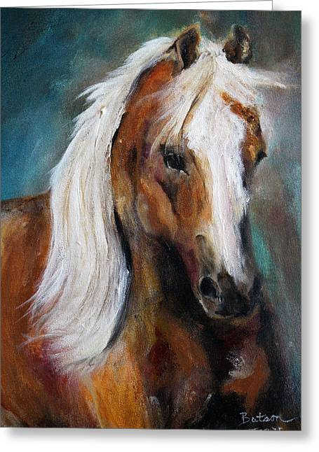The Palomino I Greeting Card by Barbie Batson