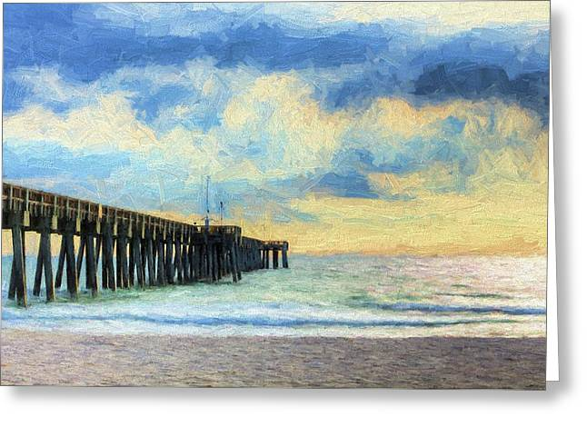 The Panama City Beach Pier Greeting Card by JC Findley
