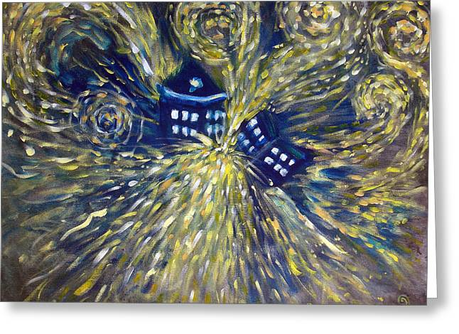 Gogh Greeting Cards - The Pandorica Opens Greeting Card by Alizey Khan