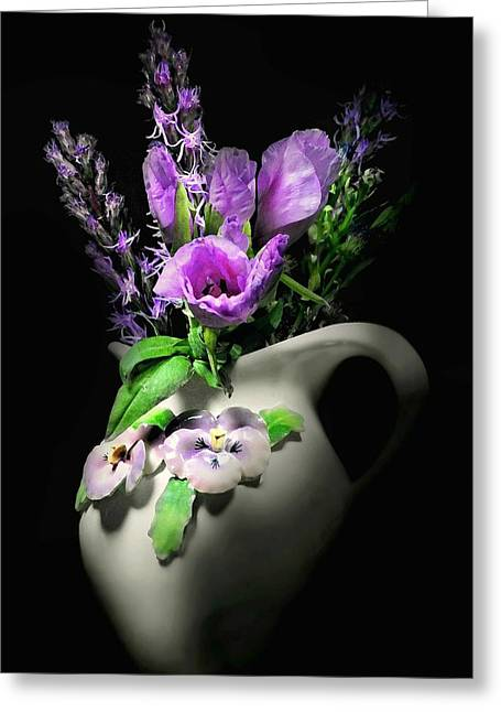 The Pansy Vase Greeting Card